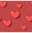 Elegant seamless with red cartoon hearts vector