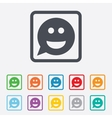 Smile face sign icon smiley symbol vector