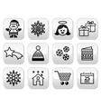 Christmas xmas celebrate buttons set vector