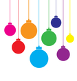 Plain christmas balls vector
