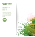 Watercolor background with space for text vector