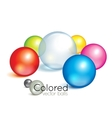 Bright collection of colorful balls vector
