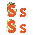 Letter s snake vector