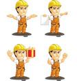 Industrial construction worker mascot 11 vector