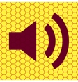 Speaker flat modern web button and space for your vector