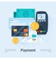 Payment methods concept vector