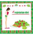 Vegetarian diet card vector