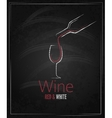 Wine glass chalkboard menu background vector