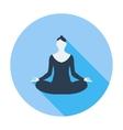 Yoga flat icon vector