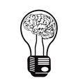 Brain light bulb vector