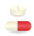 Capsule and pill medicine vector