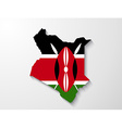 Kenya country map with shadow effect presentation vector