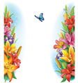 Border from flowers vector
