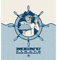 Pirate menu vector
