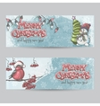 Set of horizontal banners for christmas and the vector
