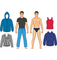 Man and clothes vector