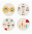 Set of business people and staff icons vector