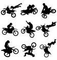 Motocross silhouettes vector