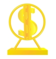 Golden dollar sign vector