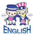 John bull and uncle sam character vector