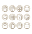 Set of gifts packages vector