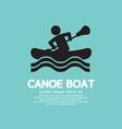 Man row a canoe boat vector
