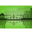 Black cities silhouette urban concept epoch vector
