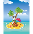 Girl on tropical island2 vector