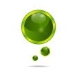 Abstract eco green bubbles - vector