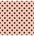 Black polka dots tile pattern or pink wallpaper vector