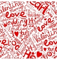 Valentine seamless pattern for your design vector