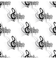 Seamless background music pattern vector