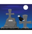 Graveyard in the night vector