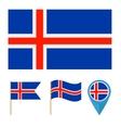 Icelandcountry flag vector