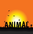 Animal nature color vector