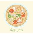 Vegetable pizza vector