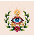 Tattoo pyramid vector