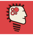 Fast process work brain concept vector