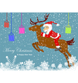 Christmas santa claus move gifts vector