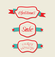Christmas set variation vintage labels with text vector