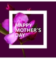 Happy mothers day label with flowers vector