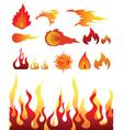 Design elements fire vector