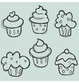 Cupcake sketch vector
