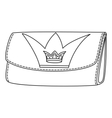 Wallet with crown vector