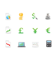 Economy finance icons vector