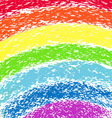 Pastel crayon painted rainbow image vector
