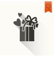 Happy valentines day icon vector