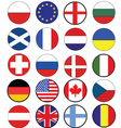 Nation flags vector