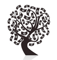 Black money tree vector