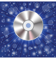 Cd on a blue background vector